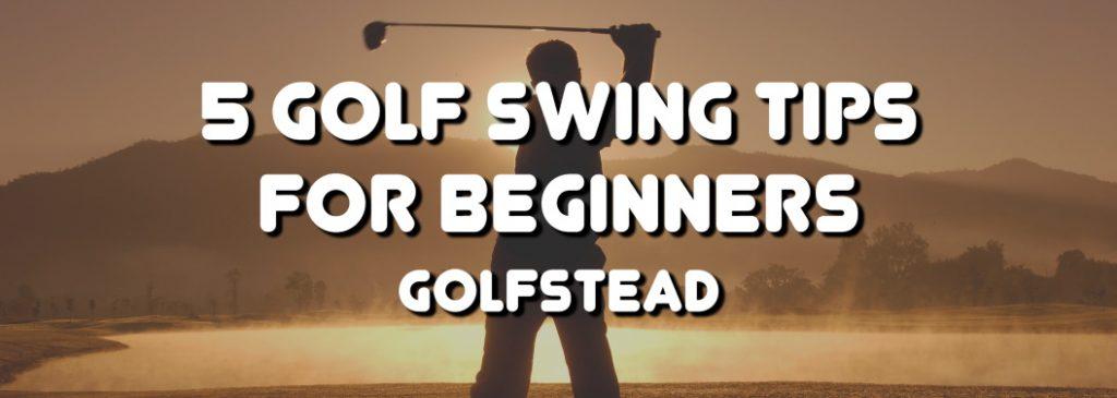 Golf Swing Tips For Beginners - Banner