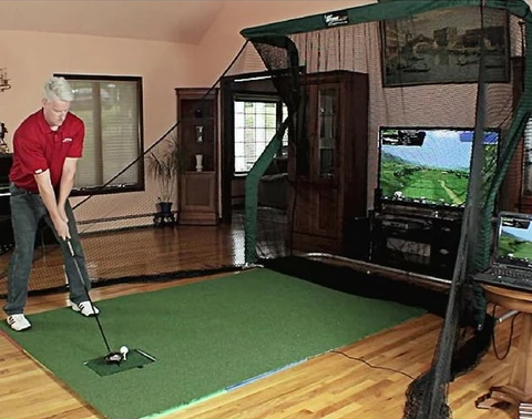OptiShot 2 Home Golf Simulator Setup