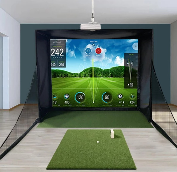 SkyTrak SwingBay Golf Simulator Setup