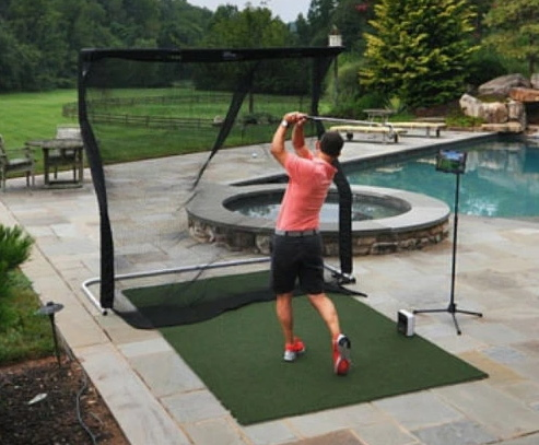 SkyTrak Practice Golf Simulator - Outdoor Setup