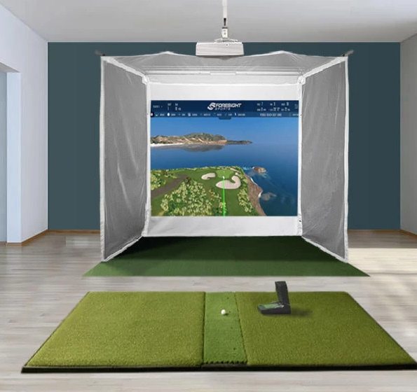 GC2 HomeCourse Retractable Simulator Setup