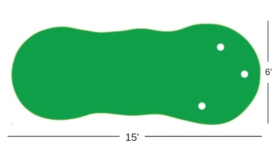 Putting Green Size Diagram