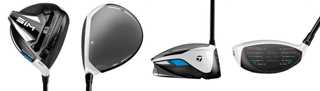 TaylorMade SIM Driver - 4 Perspectives