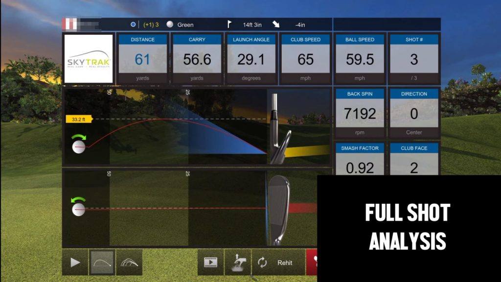 SkyTrak Simulation - E6 Course Play Shot Analysis