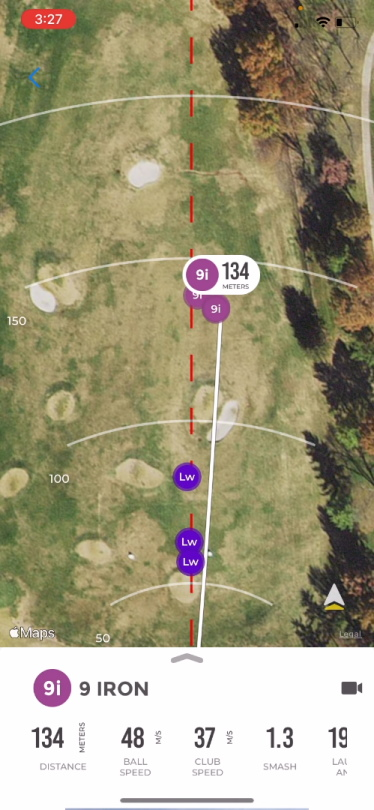 Rapsodo MLM GPS Mapping Sample